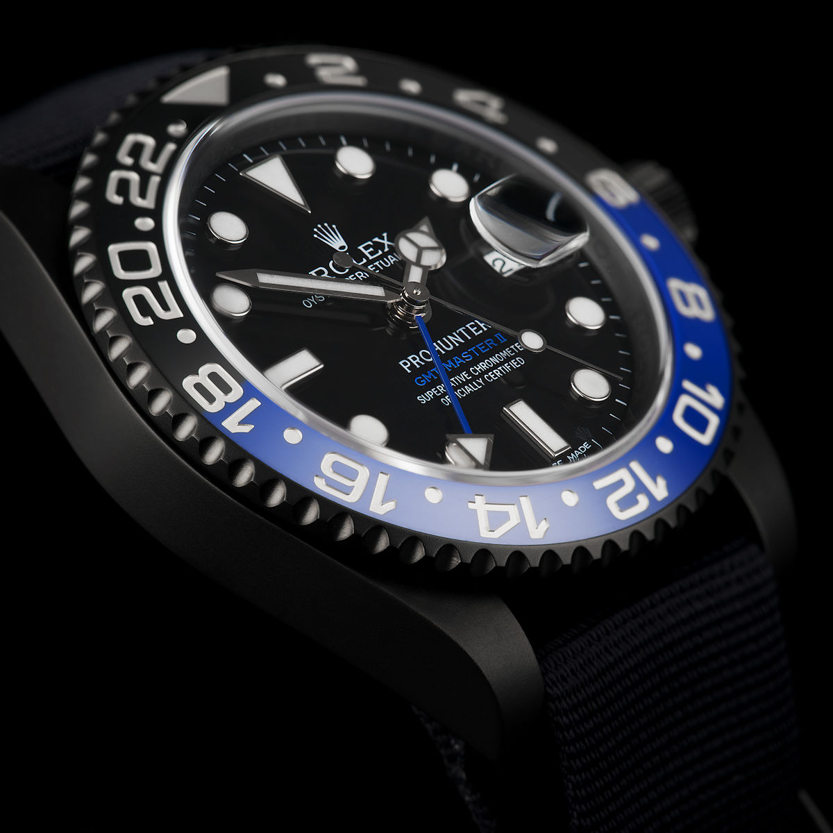 Stealth Military GMT-Master II Blue